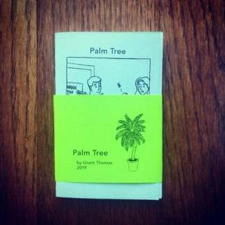 Palm Tree Accordion Fold Mini Comic Zine