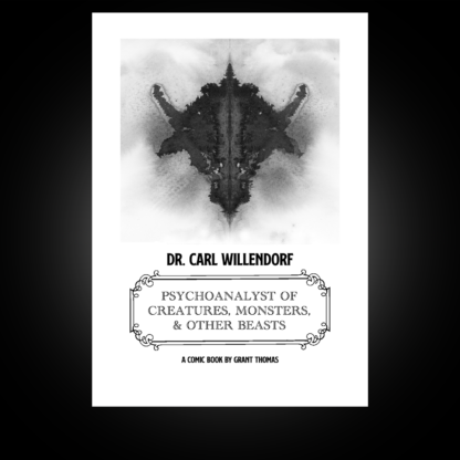 Dr. Carl Willendorf: Psychoanalyst of Creatures, Monsters, and Other Beasts tells the story of the Minotaur who visits his Psychoanalyst to discuss his mixed up family.